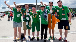 Ireland fans before the game