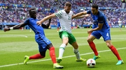 Daryl Murphy in action for Ireland against hosts France at Euro 2016