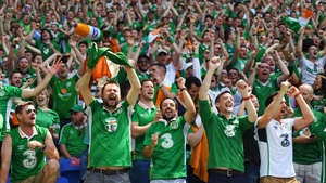 The Republic of Ireland fans were in fine voice in Lyon