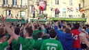 Irish fans at The Connemara Irish Pub in Bordeaux ahead of the Republic's match against Belgium last week