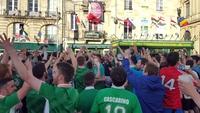 High-spirited Irish fans bid au revoir to France