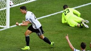 Mario Gomez scores Germany's second