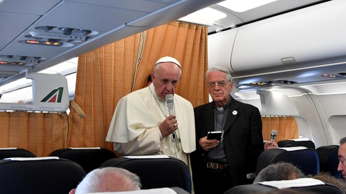 Pope Francis said Christians should seek forgiveness