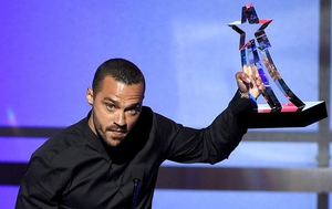 Jesse Williams accepting his award on Sunday night