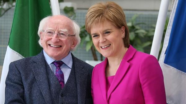 President Michael D Higgins met Nicola Sturgeon in Glasgow
