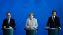 Francois Hollande, Angela Merkel and Matteo Renzi held talks in Berlin
