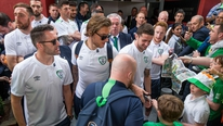 Reaction from Robbie Keane, Jeff Hendrick, Martin O'Neill, John Delaney and supporters as the Irish team arrive home after their Euro 2016 adventure