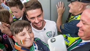 Robbie Brady poses for a picture