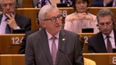 Jean-Claude Juncker said he would make no apology for being 'sad' at the result of the British vote