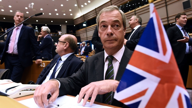 Nigel Farage's remarks were greeted with boos from the members of the parliament