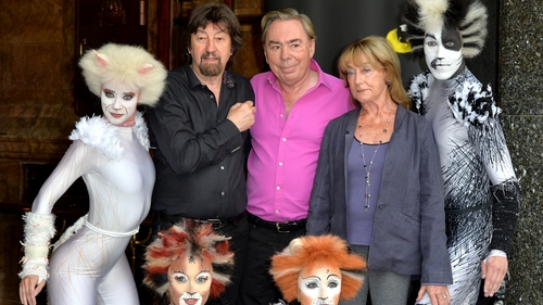 Andrew Lloyd Webber and some Cats people