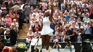 Serena Williams served outstandingly against Elena Vesnina, losing just one point on her first serve in the entire match