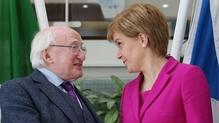 President Higgins met First Minister Nicola Sturgeon earlier in the week
