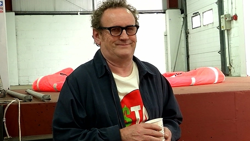 """Meaney on the set of Halal Daddy - """"Martin's a complete bull*******, which I love"""""""