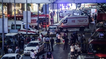 Bombers  struck Turkey's busiest airport on Tuesday