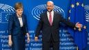 Nicola Sturgeon le Martin Schulz sa Bhruiséal inniu