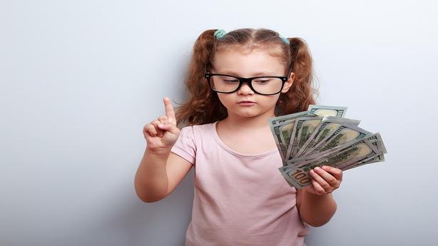 Kids with money