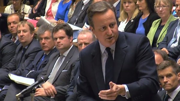 David Cameron was answering questions in the House of Commons