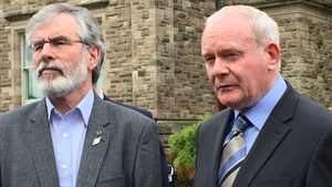 Gerry Adams (L), pictured with Martin McGuinness, said Sinn Féin will