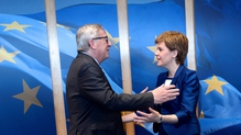 Jean-Claude Juncker welcomed Nicola Sturgeon to Brussels