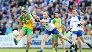 Michael Murphy and Vinny Corey in action during the drawn game