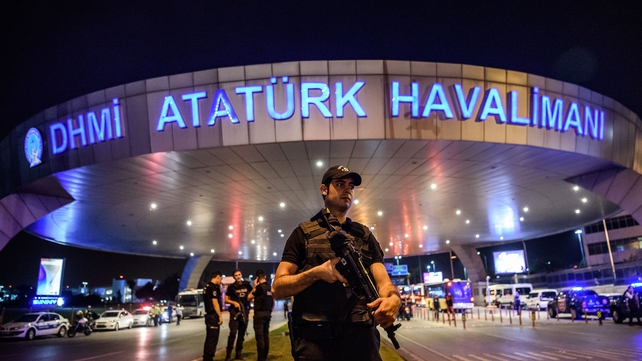 Three suspected ISsuicide bombers killed 44 people in at Istanbul's main airport