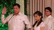 Filipino President Rodrigo Duterte takes his oath of office