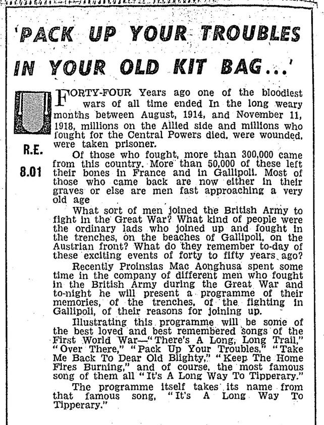 RTÉ Guide 9 November 1962