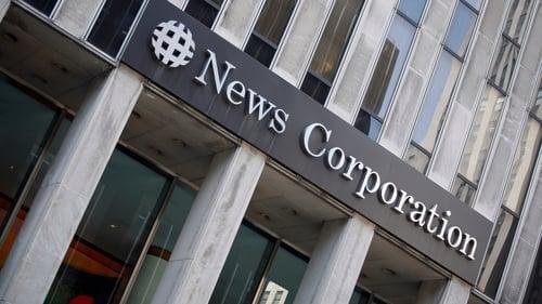 News Corp said its total quarterly revenue rose 5.8% to $2.09 billion