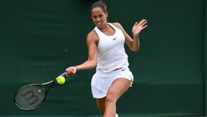 Madison Keys dropped serve three times on her way to victory