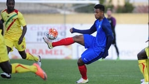 Lys Mousset in action for France Under-21s