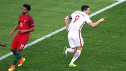 Robert Lewandowski celebrates his early goal
