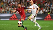 Ronaldo in action against Poland