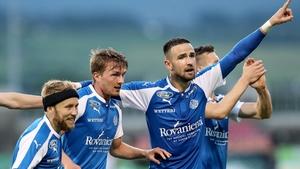 Janne Saksela celebrates scoring