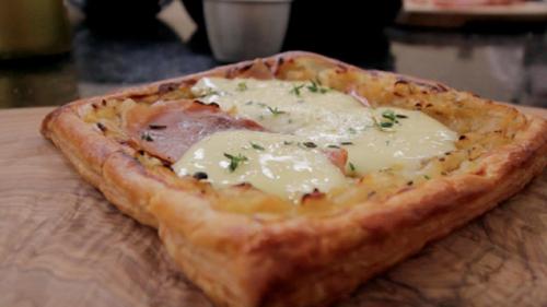 Dublin Cookery School's Onion Prosciutto Tart
