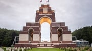 The Thiepval Memorial is a war memorial to 72,246 missing British Empire servicemen, who died in the Battles of the Somme
