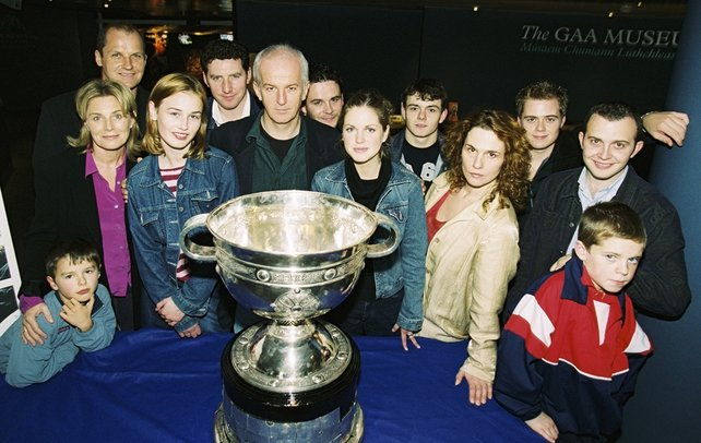 Cast of 'On Home Ground' at launch in the GAA Museum, Croke Park in October, 2001