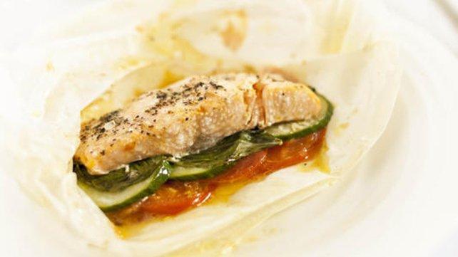 Salmon in a sandwich!