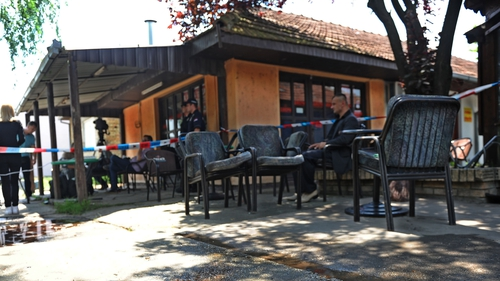 A man entered a cafe in northern Serbia and opened fire with an assault rifle