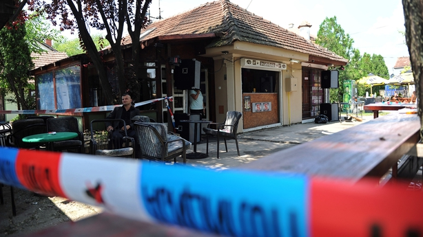 Serbia cafe attack