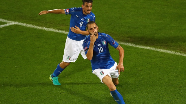 Leonardo Bonucci levelled the match for Italy