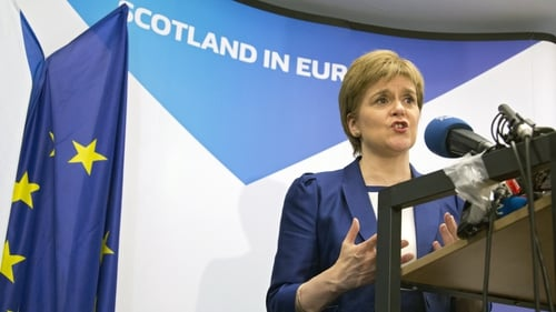 Scotland's First Minister Nicola Sturgeon has pledged to explore all options to keep Scotland in the EU