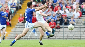 Peter Harte fires home Tyrone's first goal