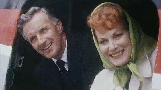 Captain Charles Blair and Maureen O'Hara (1976)