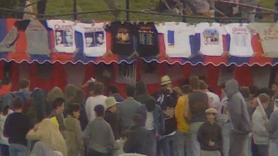 Queen Merchandise at Slane Castle (1986)