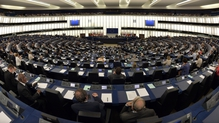 Members of parliament attend the European Parliament monthly session in Strasbourg