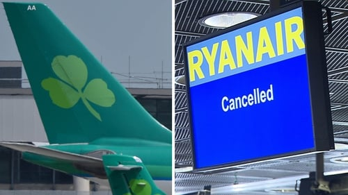 Aer Lingus and Ryanair have both cancelled flights