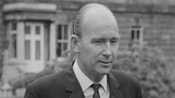 Dr P.J. Hillery, the new Minister for Labour (1966)