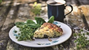 Black Pudding and Goat's Cheese Frittata