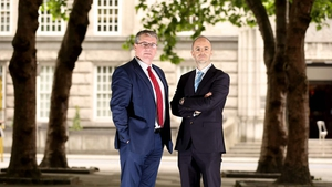 Netwatch CEO David Walsh (L) pictured with Andrew Bourg (R), Investment Director with Development Capital, which provided €9m of the funding